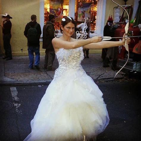 katniss everdeen catching wedding dress completed costumes