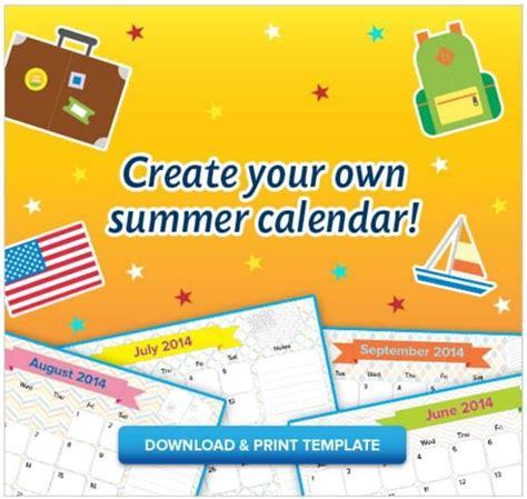 printable kids summer calendar