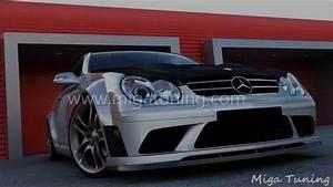 Mercedes Clk Tuning : mercedes clk w209 tuning black edition body kit youtube ~ Jslefanu.com Haus und Dekorationen
