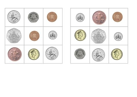uk coin bingo by paigeftownsend teaching resources tes