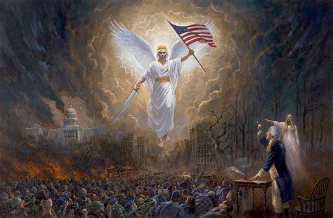 angel washington george vision liberty patriotic mcnaughton americana fine country peril