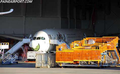 Boeing Modification Center by Jal 787 Line 20 In The Boeing Everett Modification