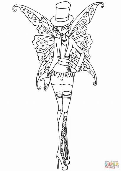 Gothic Coloring Pages Winx Bloom Club Printable