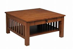 products ohio hardwood furniture With mission style square coffee table