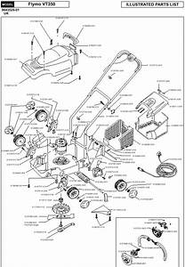 Flymo Venturer Turbo 350 Spares Diagram Product Code