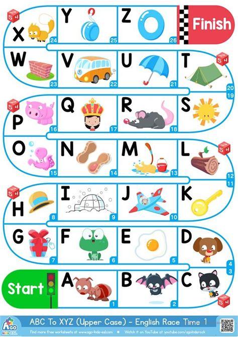 upper case alphabet esl board game  images