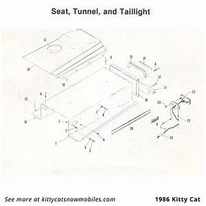86 Kitty Cat Seat  Tunnel  And Taillight Parts