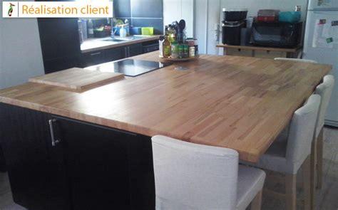 rénovation de cuisine avec plans de travail en hêtre