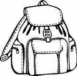 Coloring Backpack Pages Clipart Supplies Printable Clipartmag Backpacks Things Coloringpages101 Getcoloringpages sketch template