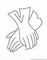 Gloves Coloring Printable Coloringpages101 Entertainment sketch template