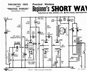 vintage radio and electronics acorn vhf valves short With radio circuit diagram in addition tube regenerative receiver schematic