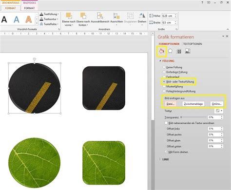 powerpoint  wege um formen mit bildern zu fuellen