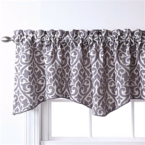 Gray And White Window Valance by Bryce Chenille Scalloped Valance With Cording 55 Quot X 17
