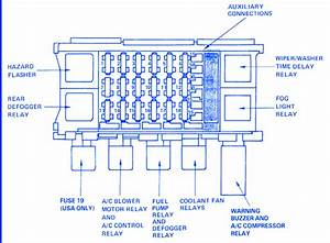 Pontiac Lemans 1990 Fuse Box  Block Circuit Breaker Diagram