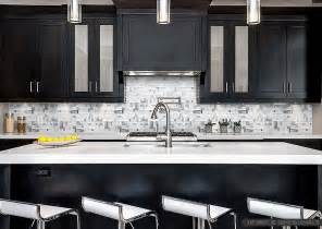 backsplash for white kitchen modern espresso cabinet white glass metal backsplash tile