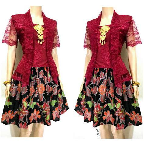 rok katun polos warna 17 model kebaya embos modis dan populer contoh baju