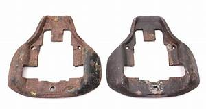 Pair Front Brake Caliper Carriers 75