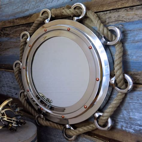 nautical porthole nickel finish 23 quot mirror with a simpler