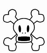 Skull Crossbones Pages Bones Template sketch template