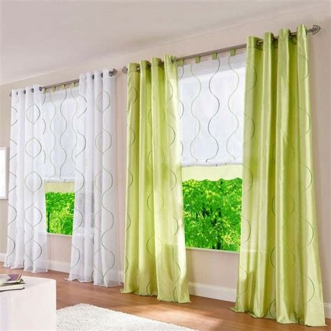window drapes 1pcs grommet windows curtains sheer fabric wave printed