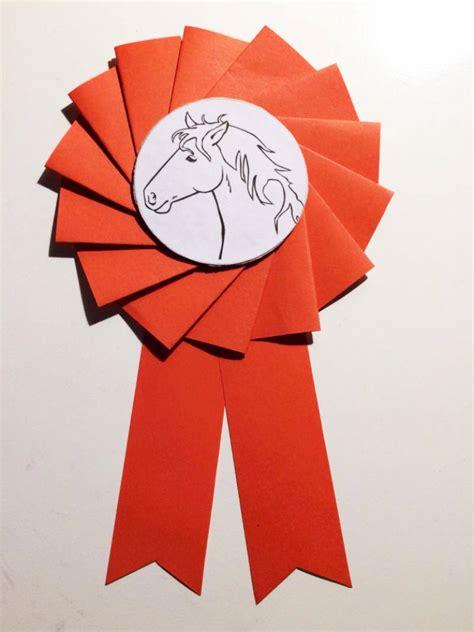 fuer pferdefans eine turnierschleife selber basteln