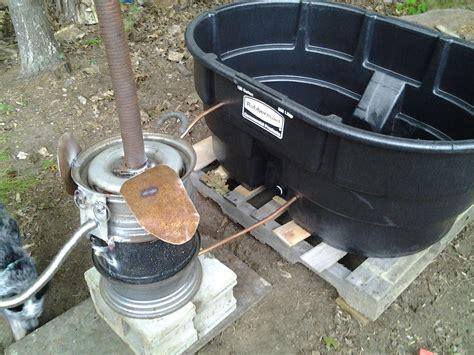 tub wood burner homesteader wood fired tub 5 steps
