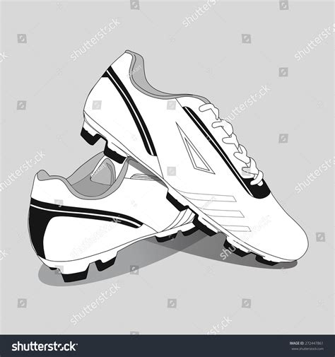 black lines football boots soccer shoes vector