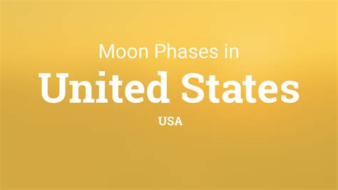 moon phases  lunar calendar  united states usa