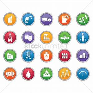 Oil and gas industry icons Vector Image - 1368274 ...