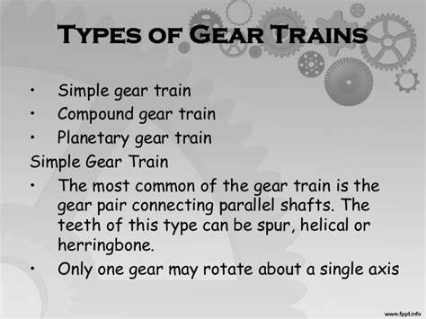 Gears And Gear Trains