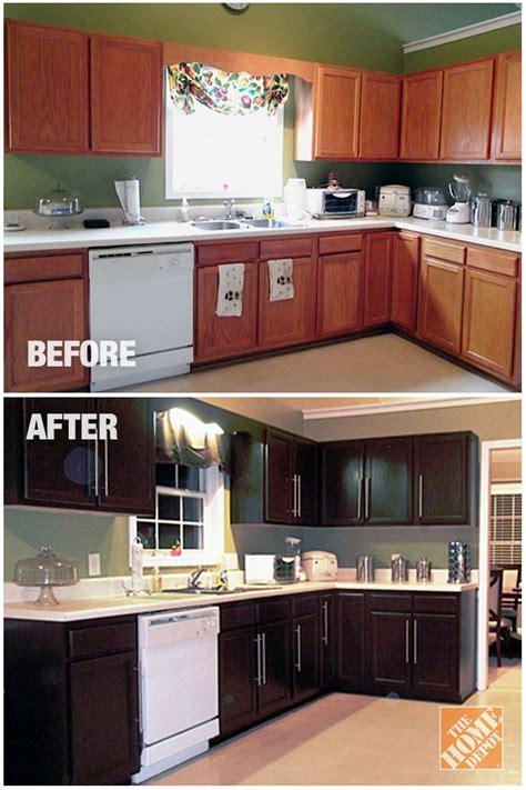 Home Depot Kitchen Before And After kitchen cabinet refinishing query prompts gorgeous photos
