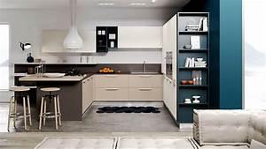 Cucina Angolare Penisola Moderna ~ Tutte le Immagini per la Progettazione di Casa e le Idee di