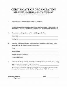 Certificate of analysis template forms fillable printable samples for pdf word pdffiller for Certificate of organization nebraska