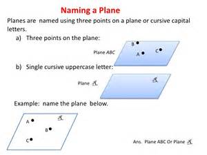 Geometry Points Lines and Planes