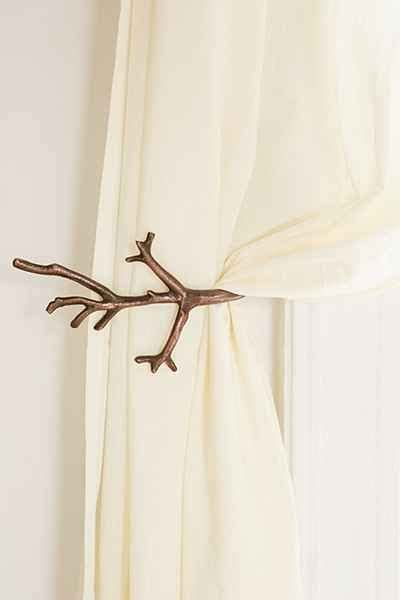 Metal Antler Curtain Tie Backs by Magical Thinking Antler Curtain Tie Back