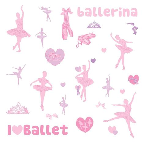 ballet 30 big removable wall decals kids girls decor stickers ballerina dance ebay