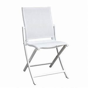 Chaise Pliante De Jardin : chaise pliante koton les jardins aluminium 46x57x86 cm ~ Teatrodelosmanantiales.com Idées de Décoration