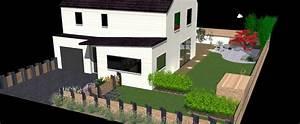 plan amenagement jardin gratuit obasinccom With idee amenagement jardin rectangulaire 3 creation dun jardin contemporain mon jardin en ligne