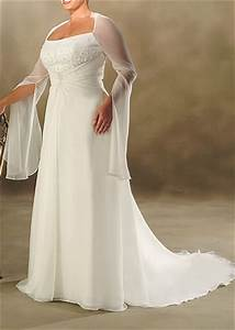 Plus size beach wedding dresses with sleeves dresses trend for Beach plus size wedding dresses
