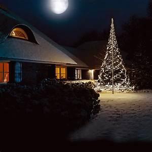 Lichterkette Weihnachtsbaum Außen : k nstlicher weihnachtsbaum 6 m lichterkette f fahnenmast 720 led kaltwei au en ebay ~ Orissabook.com Haus und Dekorationen