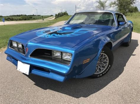 1978 Blue Trans Am by 1978 Trans Am Martinique Blue 400 Auto Rust Free For