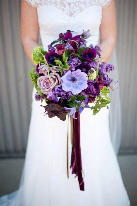perfect purple wedding flowers  die  mon cheri bridals