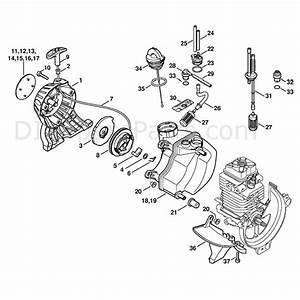 Stihl Fs 110 Brushcutter  Fs110  Parts Diagram  Rewind