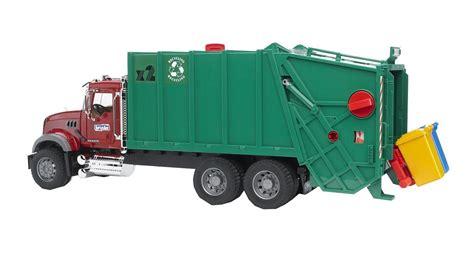 bruder 02812 mack granite garbage truck ruby green