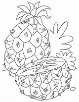 Pineapple Coloring Fruits Half Cut Fruit Momjunction Colouring Watermelon Strawberry Printable Sheets Preschool Apple Toddlers Recommended Orange Popular sketch template