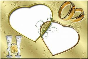 free wedding backgrounds /frames | Frame-Gold+Love-Photo ...