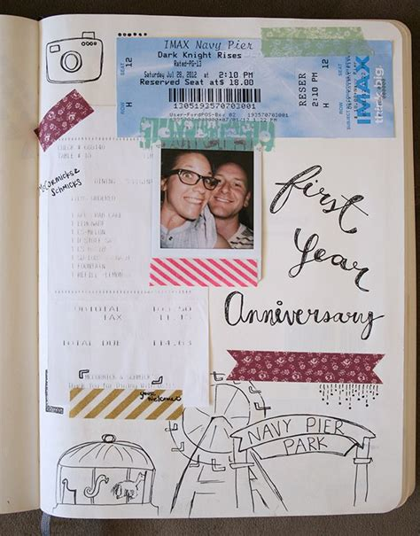 anniversary scrapbook ideas  pinterest