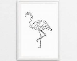 Flamingo Schwarz Weiß : geometrische papagei papagei print vogel druck geometrische ~ Eleganceandgraceweddings.com Haus und Dekorationen