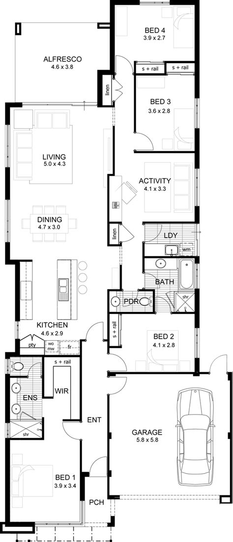house plans websites 1000 images about single storey floor plans narrow lot on perth floor plans and