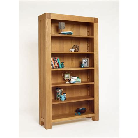 Oak Bookcase by Kingston Chunky Oak Bookcase The Furniture House